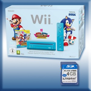 Wii bleue : Pack Mario Sonic London 2012 flashée avec USB Loader