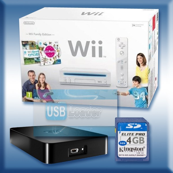modification wii wii pack family eidition neuve flash e avec usb loader. Black Bedroom Furniture Sets. Home Design Ideas