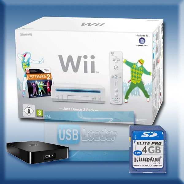 modification wii wii blanche pack just dance 2 flash e avec usb loader. Black Bedroom Furniture Sets. Home Design Ideas